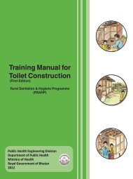 Training Manual for Toilet Construction - Ministry of Health