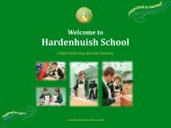 Graphic Products Options Presentation - Hardenhuish School