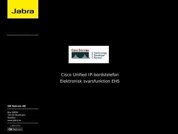 EHS-dokumentation Cisco - Headsetshoppen