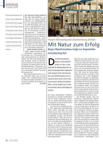 Mit Natur zum Erfolg - Beyer Maschinenbau GmbH
