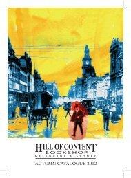 Autumn 2012 - Hill of Content Bookshop
