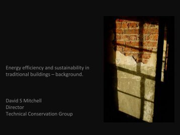 Energy efficiency and sustainability in traditional ... - Historic Scotland