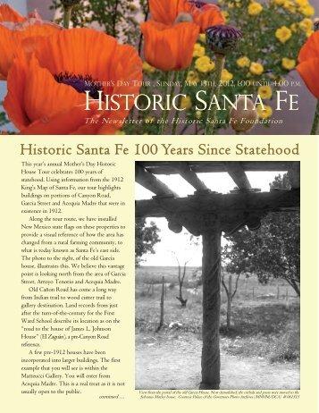 Newsletter spring 2012 outside - Historic Santa Fe Foundation