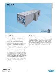 15000 CFM Spec Sheet - Halton Company