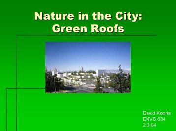 Nature in the City: Green Roofs - Greendesignetc.net