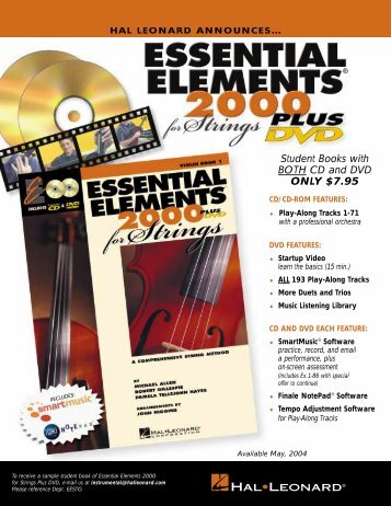 Essential Elements 2000 - Hal Leonard