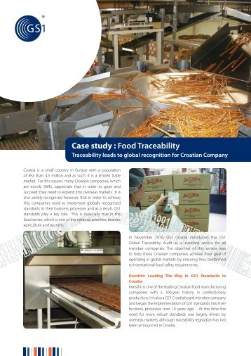 Case study : Food Traceability - GS1