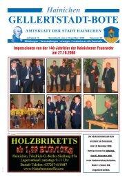 GELLERTSTADT-BOTE - Hainichen