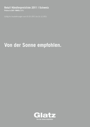 sonnenschirme glatz preisliste privat - Fames AG design