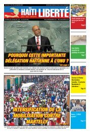 intensification de la mobilisation contre martelly - Haiti Liberte