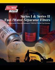 Series I & Series II Fuel /Water Separator Filters - Baldwin Filters