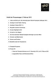 Inhalt der Pressemappe 3. Februar 2012 - Göttingen, Internationale ...