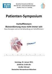 Patienten-Symposium - Deutsche Herzstiftung eV