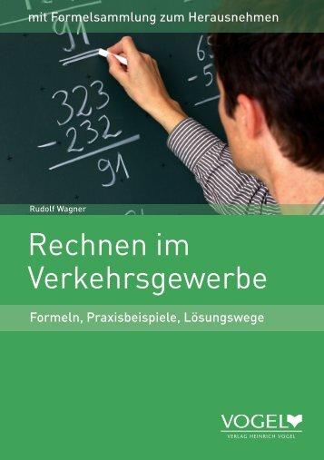Rechnen Verkehrsgewerbe 26024 - Verlag Heinrich Vogel