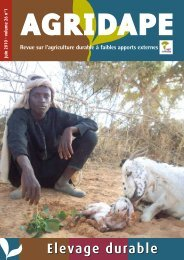 Juin 2010 - Volume 26, n°1 - Elevage durable - IED afrique