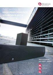 tvee® model 30 high performance soundbar with bluetooth