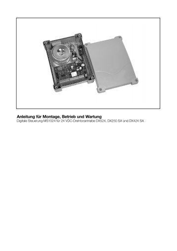 Betriebsanleitung MS1024, Steuerung für Dx-Antriebe