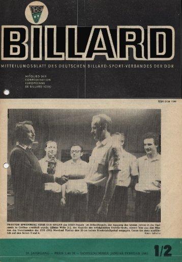 Januar 1985 - DDR Billardzeitungen 1976