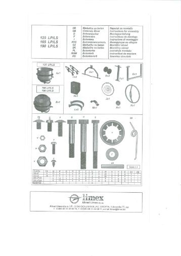 Page 1 125 LP/LS 165 LP/LS 190 LP/LS HR GB PyC CZ SK PL ...