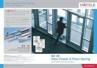 Door Closer & Floor Spring - Hafele