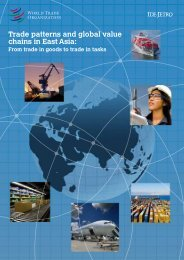 Trade patterns and global value chains in East Asia: - World Trade ...