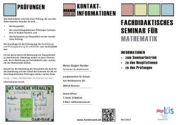 FACHDIDAKTISCHES SEMINAR FÜR MATHEMATIK - Harderweb.de
