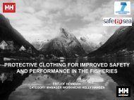 protective clothing for improved safety and performance in the fisheries