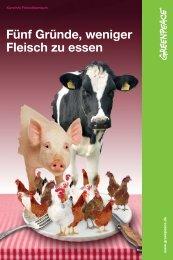 Fünf Gründe, weniger Fleisch zu essen - Greenpeace