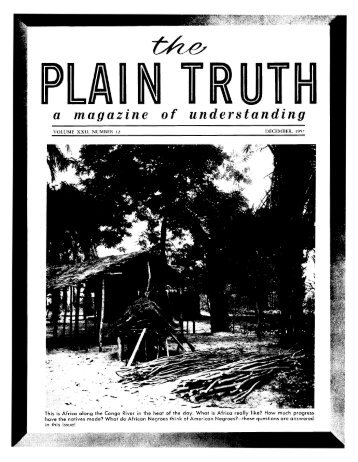 Plain Truth 1957 (Vol XXII No 12) Dec - Herbert W. Armstrong ...