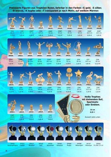 Preiswerte Figuren aus Trophäen-Nylon, lieferbar in den Farben -G ...