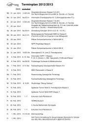 Terminplan 2012/2013 - Gymnasium Maxdorf
