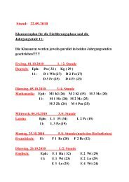 E     N      T       W      U      R     F - Gymnasium Marsberg