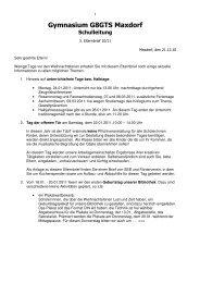 3. Elternbrief 10-11 - Gymnasium Maxdorf