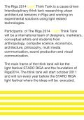 a think tank, lecture and workshop by Christian Zoellner, Gatis ... - Page 2