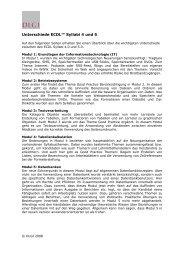 Unterschiede ECDL™ Syllabi 4 und 5 - DLGI