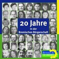 Festschrift: 20 Jahre Fraktion in der Bremischen Bürgerschaft