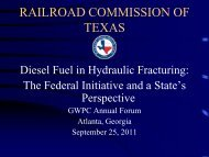 Hydraulic Fracturing and Diesel Fuel