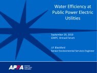 Water Efficiency at Public Power Electric Utilities