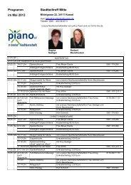 Programm im Mai 2013 Stadtteiltreff Mitte - GWG der Stadt Kassel