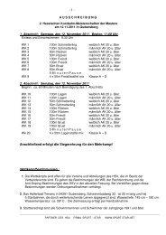Ausschreibung Masters Kurz 2011 - Hessischer Schwimm-Verband eV