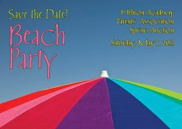 Beach Party - Hebron Academy