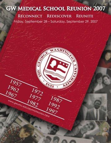 Reunion Weekend 2007 Brochure - George Washington University ...