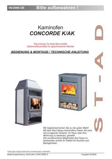 Bedienungsanleitung Concorde ... - Der Heizungs-Discount