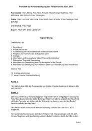 Protokoll der Vorstandssitzung des Fördervereins 28.11.2011 Seite ...