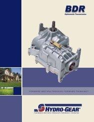 Hydrostatic Transmission - Hydro-Gear