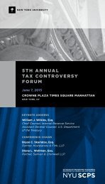 5th AnnuAl tAx Controversy Forum - School of Continuing and ...