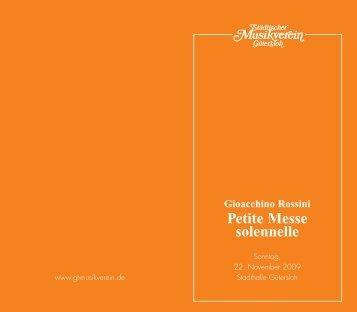 2009_Nov. Programmheft Rossini - Städtischer Musikverein ...