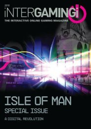 Isle of Man e-business in the spotlight in Intergaming magazin