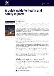 'A quick guide to health and safety in ports' (INDG446) - HSE