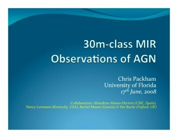 Mid-IR Observations of AGN